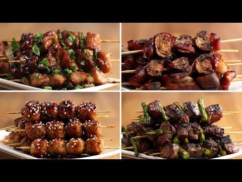 Japanese Grilled Skewers 4 Ways