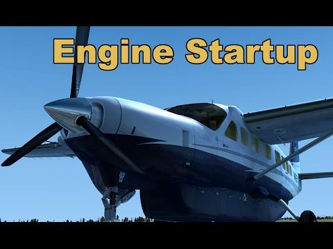 FSX Cessna 208 Caravan Tutorial. P2 Startup & Taxi out