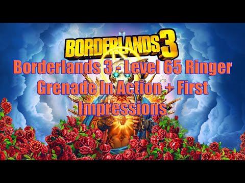 Borderlands 3 - Level 65 Ringer Grenade In Action + First Impressions
