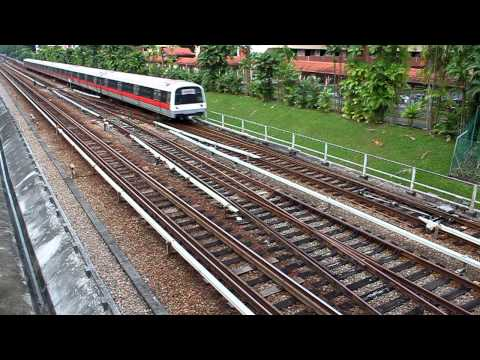[SMRT] Kawasaki Heavy Industries (KHI) C151 Six-Car EMU Set Passing By