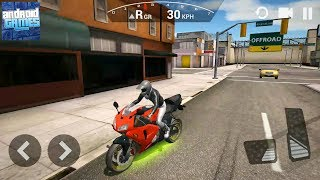 Ultimate Motorcycle Simulator #3 - Red Sportbike Upgraded - Android Gameplay FHD