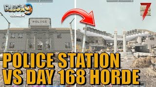 7 Days To Die - Police Station VS Day 168 Horde