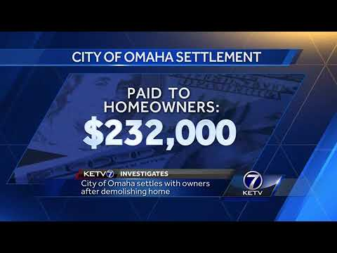 City of Omaha settles with owners after demolishing home