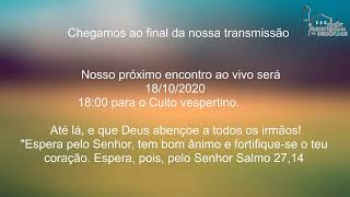 Live IPH 18/10/2020 - Culto matutino