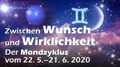 Neumond in den Zwillingen: Zwischen Wunsch und Wirklichkeit (Mondyzyklus vom 22.5. - 21.6.2020)