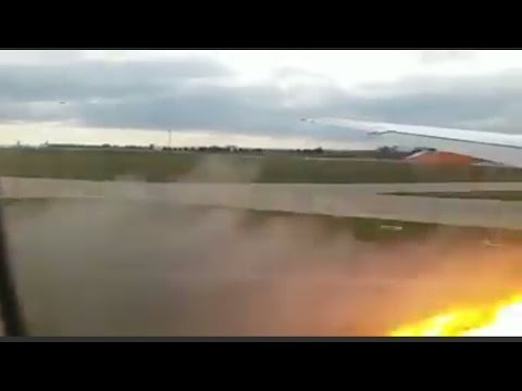 Emergency Boeing 777-200ER ENGINE EXPLOSION during takeoff from Paris Orly to Cayenne