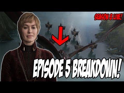 Game Of Thrones Season 8 Episode 5 LIVE Breakdown!