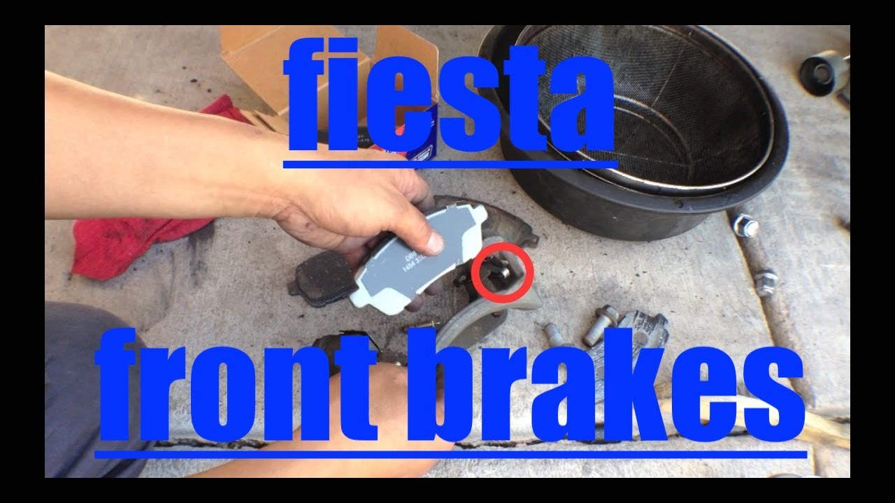 front brake pads rotors replacement ford fiesta fix it angel youtube. Black Bedroom Furniture Sets. Home Design Ideas