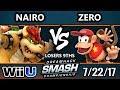 DHATL17 Smash 4 - NRG | Nairo (Bowser) Vs. TSM | Zero (Diddy) - WiiU Singles L9ths - Smash Wii U