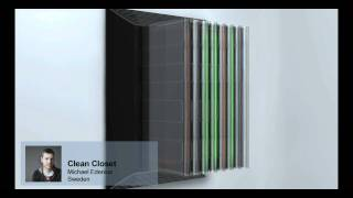 Electrolux Design Lab 2010 Finalist: Clean Closet By Michael Edenius, Sweden