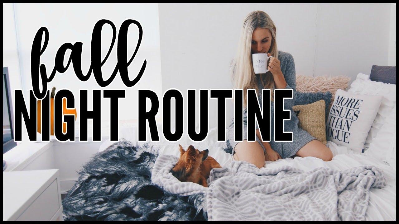 fall-night-routine-kalyn-nicholson
