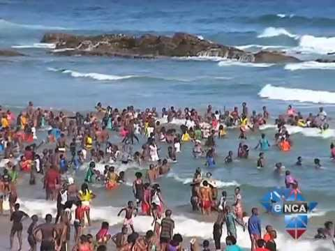 Bathers Still Swim Despite Shark Attack Youtube
