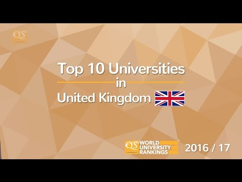 Top 10 Universities in the UK 2016/17