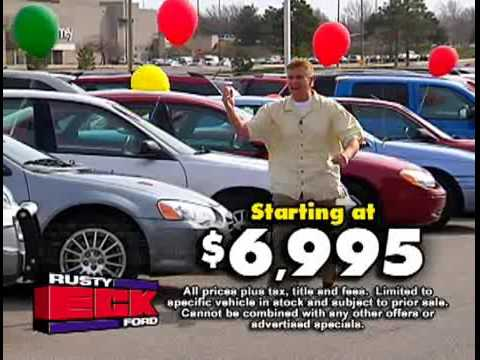 giant used car blow out sale at rusty eck ford youtube. Black Bedroom Furniture Sets. Home Design Ideas