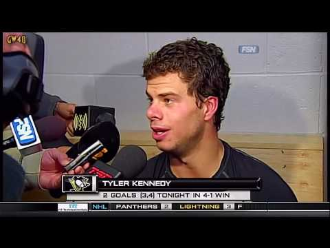 Post Game Interviews: Staal, Kennedy & Crosby 10-12-2009