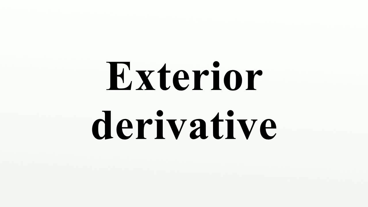 Exterior Derivative   YouTube