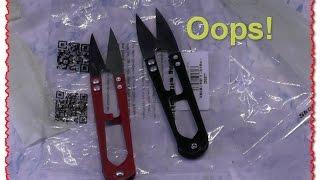Ножницы для ниток или как. Тест и обзор. посылка