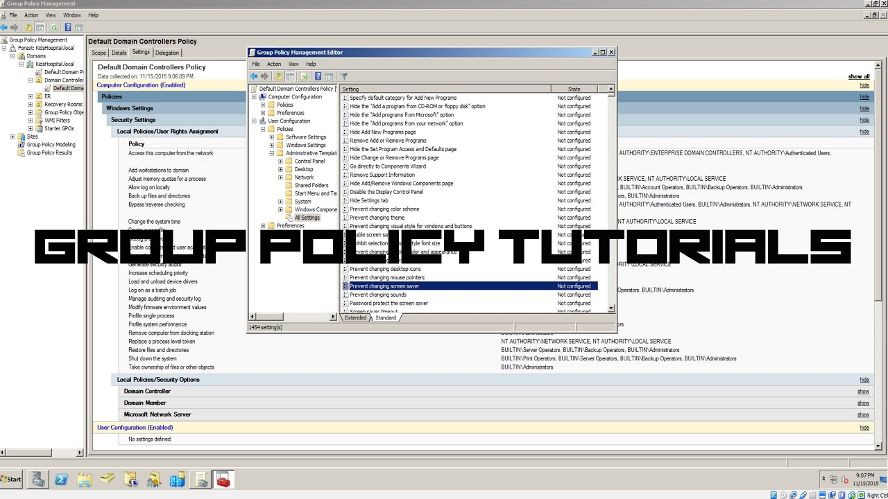 group policy how to setup interactive message for users logging in