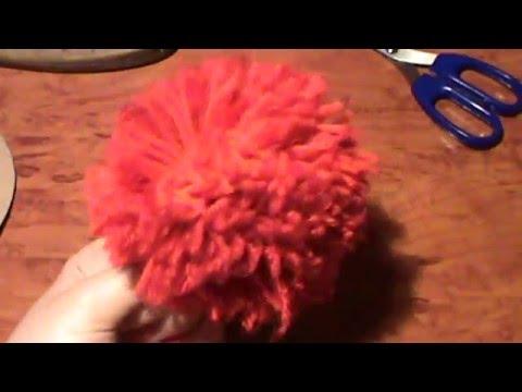 Как сделать помпоны. How to make a pompom