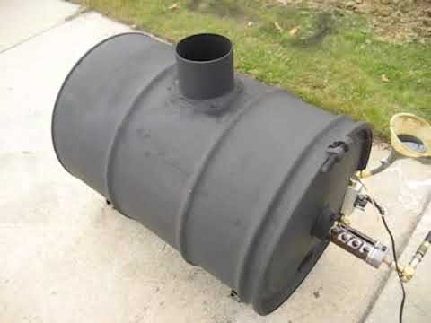 waste oil heater youtube