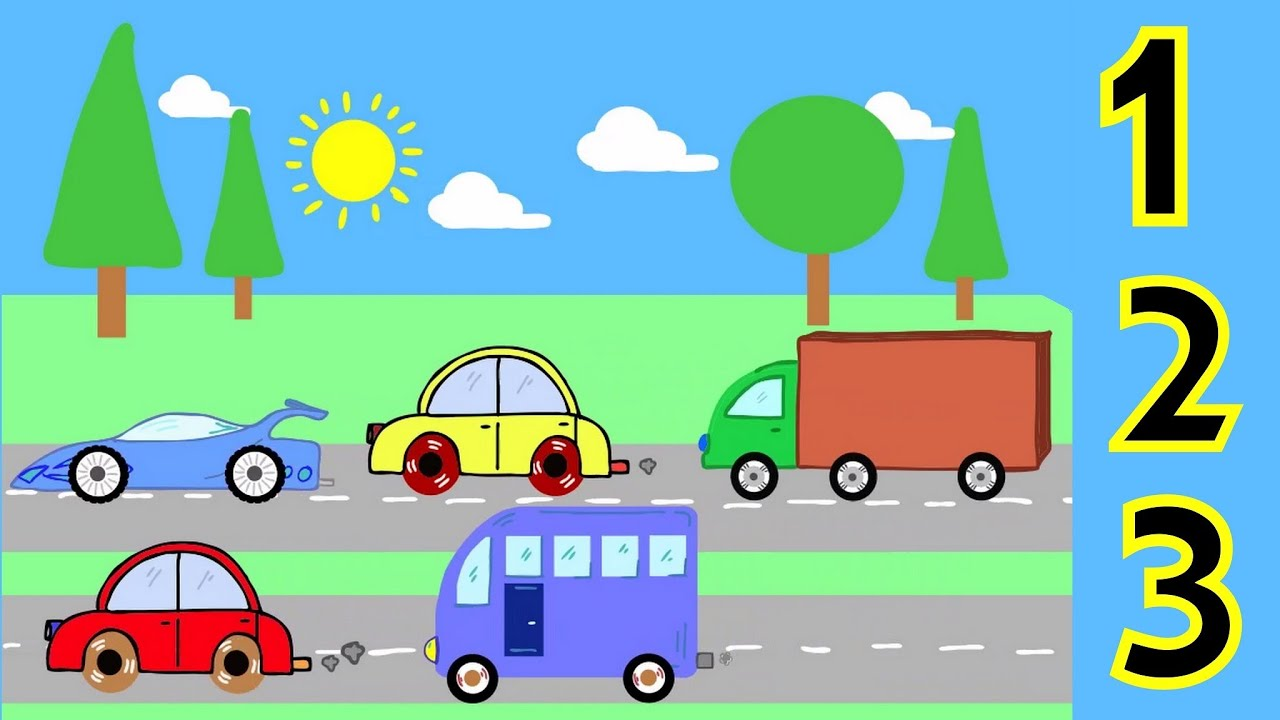 Learn To Count Numbers 1 To 5 With Cars