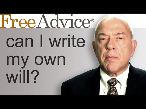 Can I Write My Own Will?