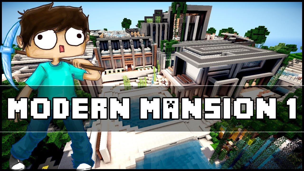 Minecraft Modern Mansion 1 Youtube