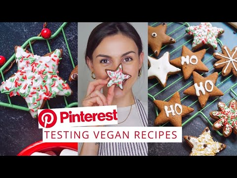 VEGAN GINGERBREAD COOKIES 🍪 Testing PINTEREST Recipes | Nikki Vegan |