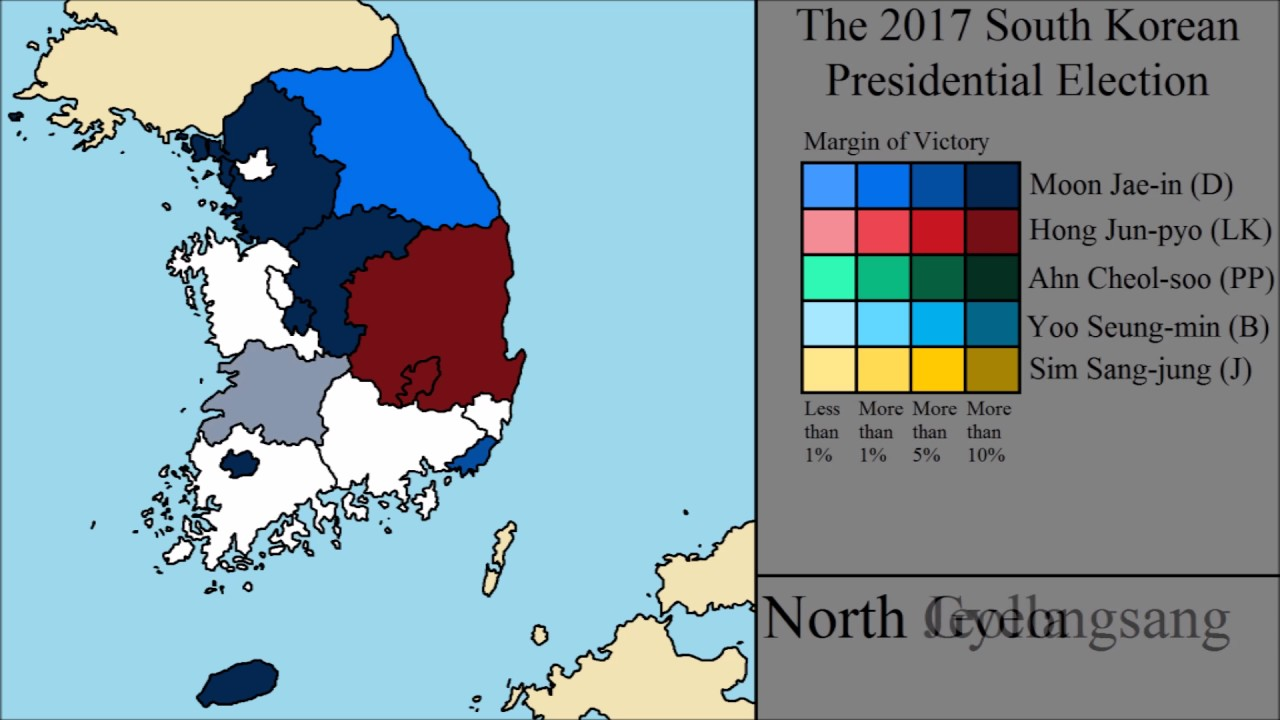 The 2017 South Korean Presidential Election Final Results Youtube