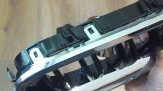 Обзор решетки радиатора, ноздри для BMW F10 (M5 стиль, черный + хром)