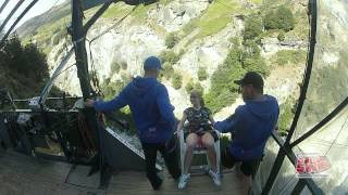 Canyon Swing-new Zealand Queenstown South Island. Chair Of Death Jump Backwards 2014