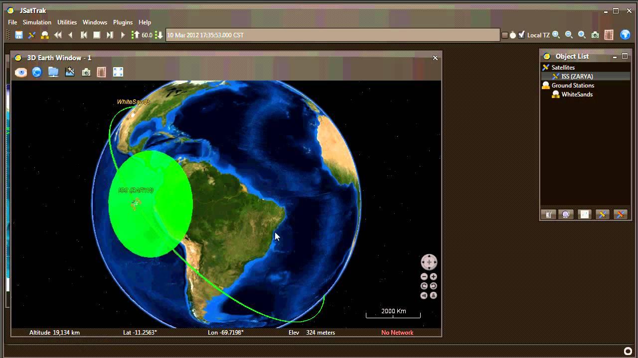 JSatTrak Basic Usage Demo with the ISS (NASA World Wind ...