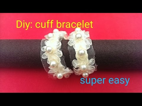 Diy: how to make a cuff bracelet using recycled material