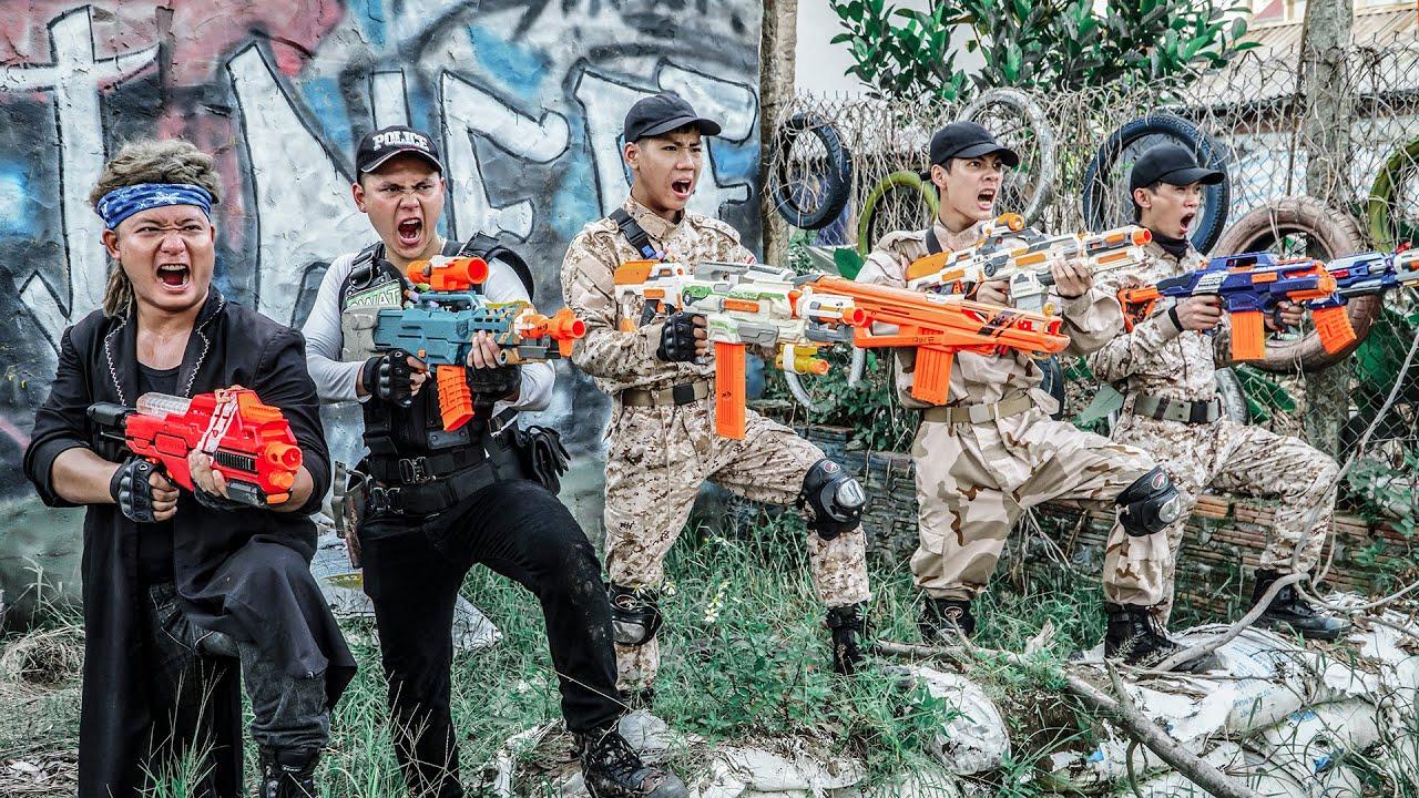 LTT Game Nerf War : Warriors SEAL X Nerf Guns Fight Criminal Group Mr Zero Crazy Century Bandits