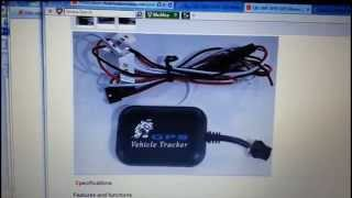 GPS Vehicle tracker setup
