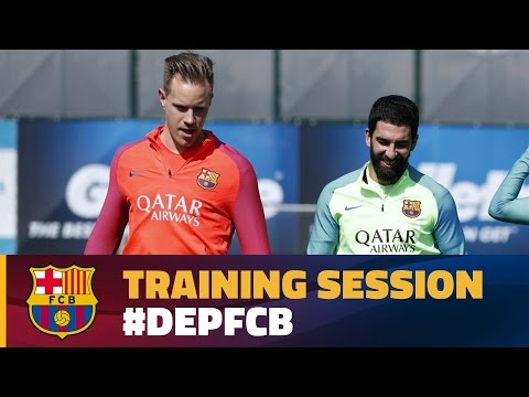Recovery session after a magical night at Camp Nou