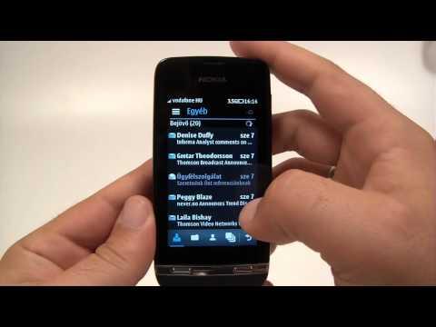Nokia Asha 311 menu overview