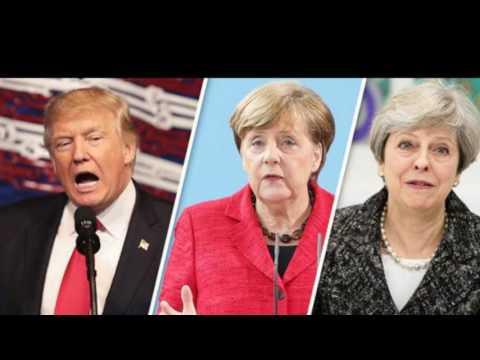 BREXIT Donald Trump European Union Britain trade deal ahead Angela Merkel queue