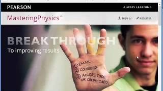 Answers to mastering physics online homework