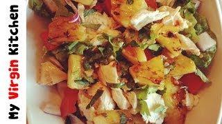 Griddled Pineapple & chicken salad - MYVIRGINKITCHEN