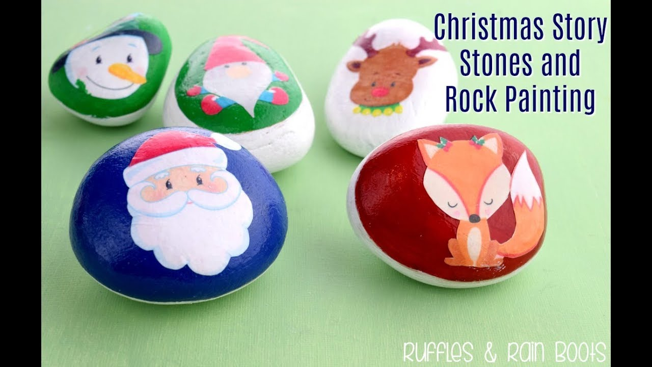 Christmas Rock Painting Images.Rock Painting Christmas Story Stones With Clipart