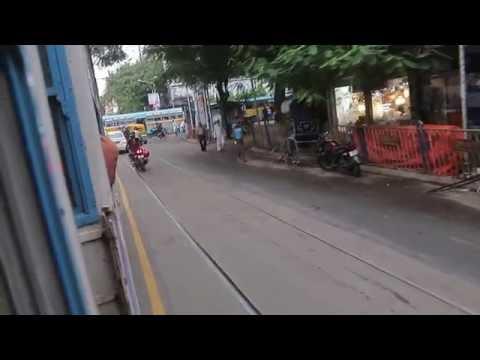 india travel,tram journey in kolkata city , | 2016