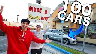We Paid For 100 Strangers Meals At Taco Bell