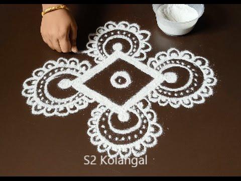 freehand rangoli for festivals - kolam designs without ...