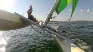 Solo sail on Prindle 16