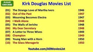 Kirk Douglas Movies List