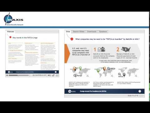 MAXIS webinar: Are you ready for Foreign Account Tax Compliance Act (FATCA)?