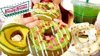 クリスピークリームドーナツの新商品!食べてみた!Krispy Kreme Doughnuts【スイーツちゃんねるあんみつ】