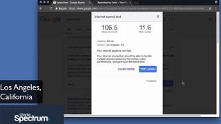 Charter Spectrum Speed Test