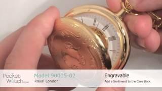 Royal London 90005-02 Mechanical Double Hunter Pocket Watch